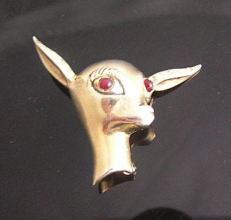 "Sterling Silver Signed ""BB"" Circa 1940's Adorable Deer Brooch"
