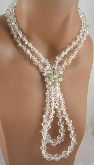Marcel Boucher Crystal & Baguette Rhinestone Necklace