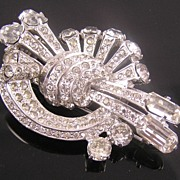 Eisenberg Original Near Mint 1940's Sterling Fur clip Book Piece