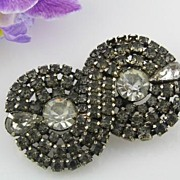 Kramer of New York Smoky Rhinestone Brooch