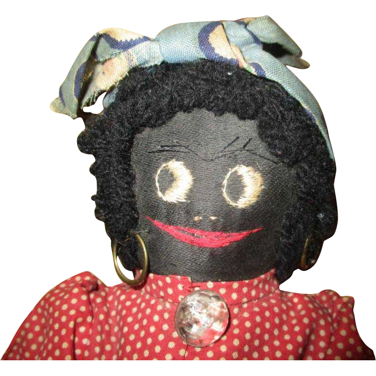 Adorable black cloth doll