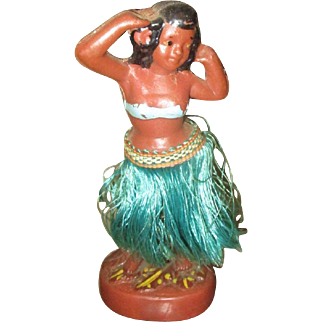 Great chalkware Hula girl