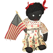 Adorable patriotic Black doll