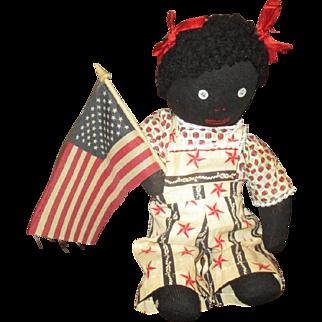 Adorable patriotic Black doll