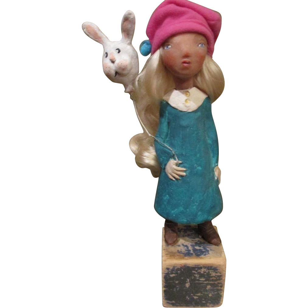 Doll original sculpted OOak outsider art