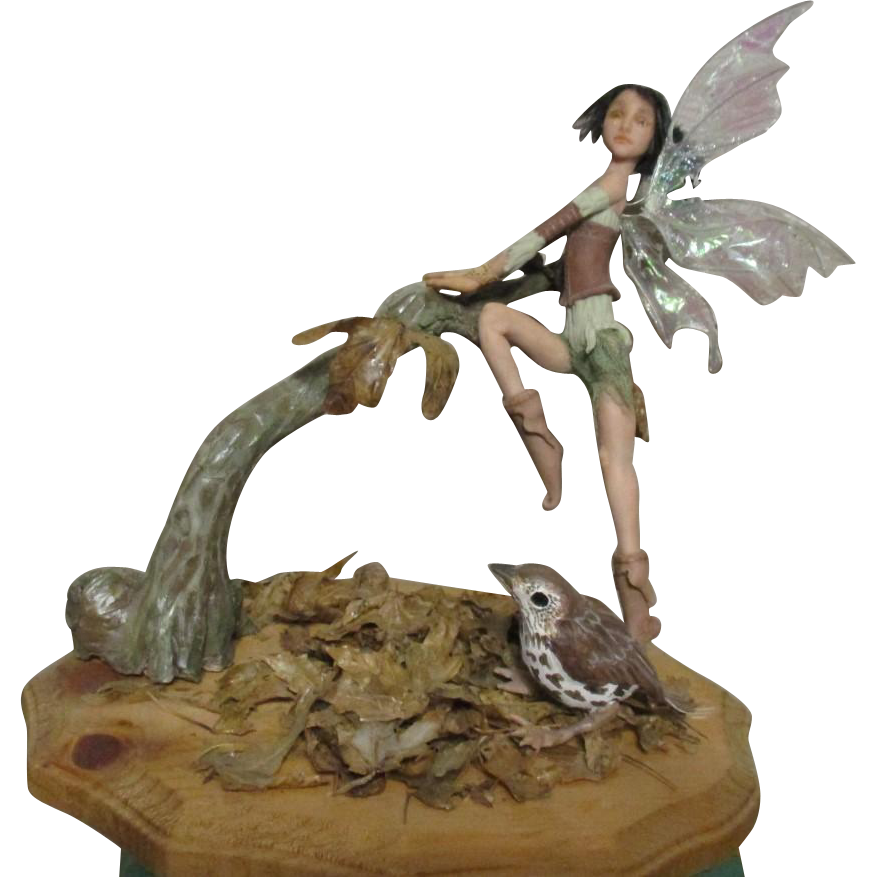 Enchanting Fairy  sculpted OOAK