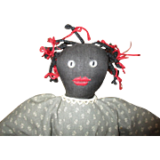 Cute Black cloth doll handmade