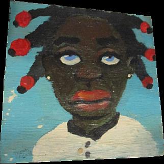 Darling Black child painting