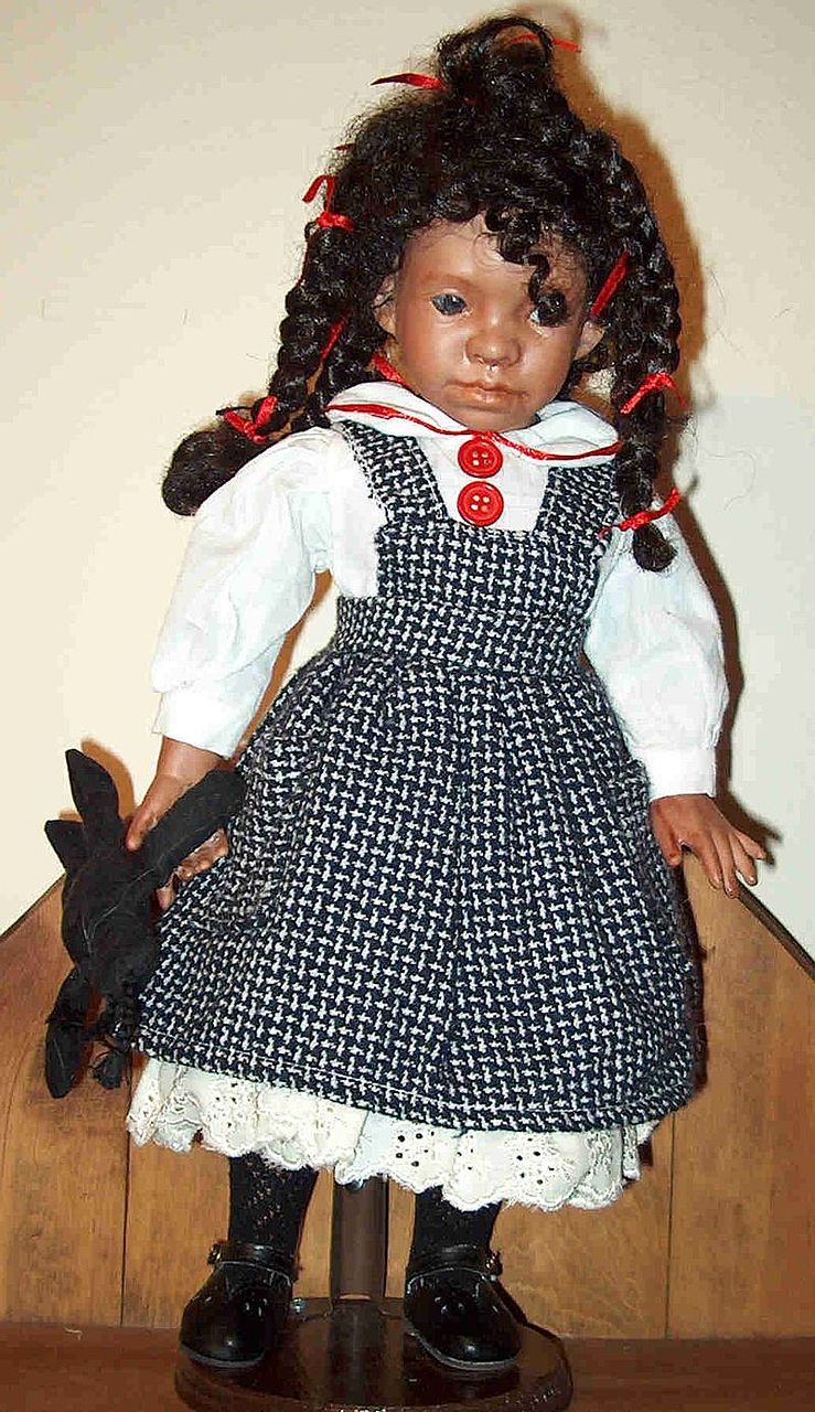 Shug-14 ' black bisque doll by Judy Kapron