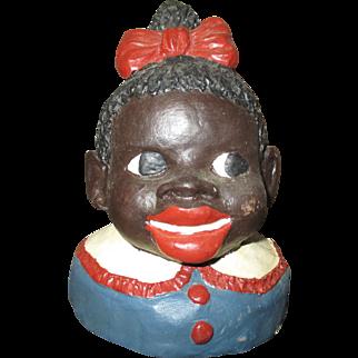 Sweet Black girl jar lid