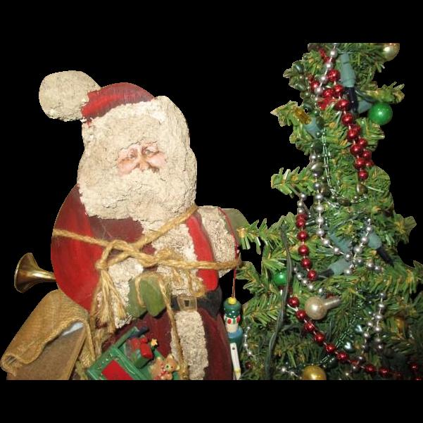 Santa Wonderful primitive one of a kind