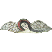 Gorgeous Angel on wood by Karen Milstein