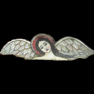 Gorgeous Angel on wood by Karen Milstein