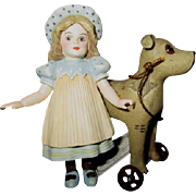 Jan Hagara bisque doll with Horse