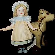 Jan Hagara bisque doll with Horse