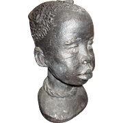 Beautiful Black child sculpture