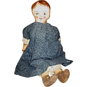 Adorable primitive artist doll OOAK