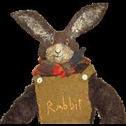 Primitve artist  Dunny Rabbit doll