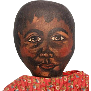 Charming  cloth Black Oil Painted doll OOAK