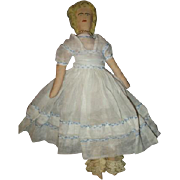 Cloth doll with a amazing dressl