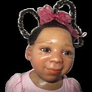 Adorable Black little girl