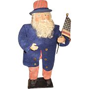 Patriotic Uncle Sam sculpted doll 19""