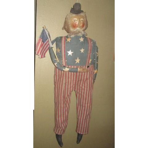Great Patriotic primitive large  Uncle Sam
