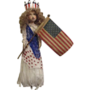 Patriotic Miss Liberty by Jude Kapron OOAK