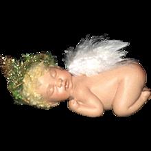 Sleeping bisque Angel by Jude Kapron