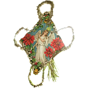 Antique ornament with beautiful tinsel