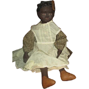 Adorable Black artist doll with molded face OOAK