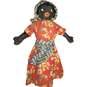 Adorable black painted cloth doll