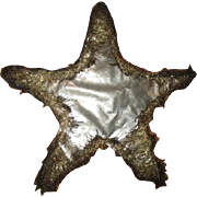 Wonderful Antique tinsel trimmed Christmas star