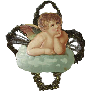 Beautiful Victorian Angel with tinsel ornament
