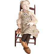 Loveable original Gramma sculpted doll OOAK