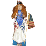 Patriotic Miss Independence by Jude Kapron OOAK