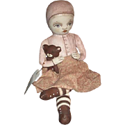 Wonderful cloth painted artist doll