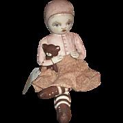 Wonderful cloth painted artist doll