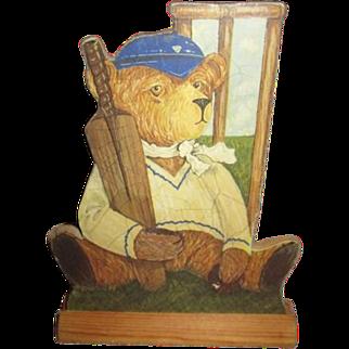 Great Teddy bear print on wood