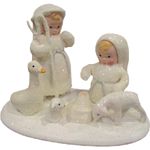 Wonderful snow baby nativity set