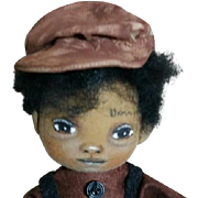 Adorable original Black cloth doll OOAK