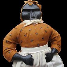 Great primitive wood carved Black doll
