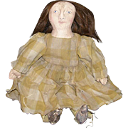 Very primitive folk art artist doll