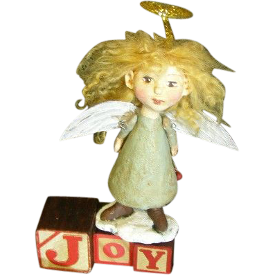 Angel ~Primitive Art doll one 0f a kind