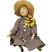 Primitive Folk art doll~ One of a kind