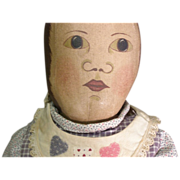 Wonderful Folk Art primitive cloth doll