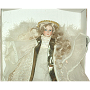 Bisque Angel tree topper by Cindy McClure