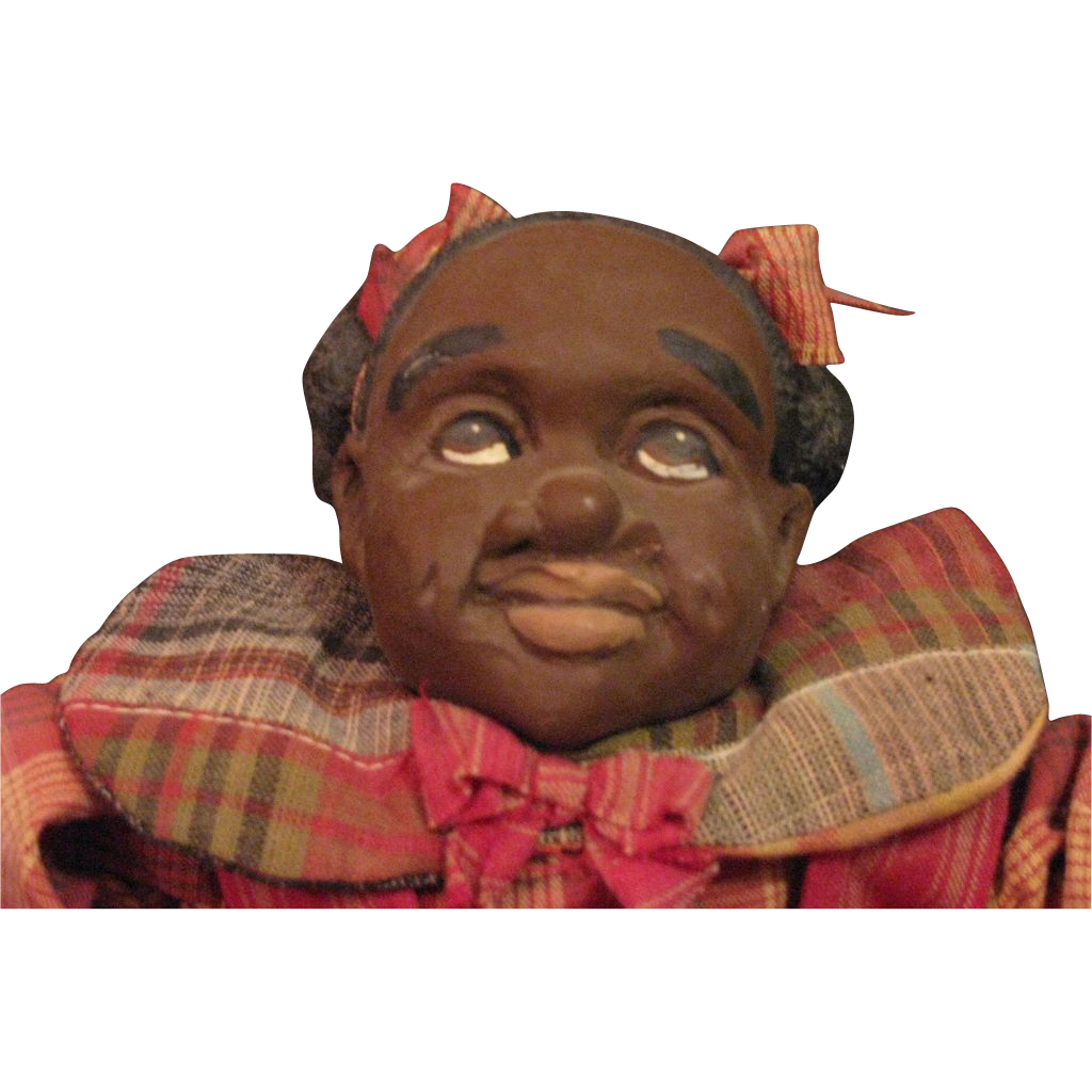 Charming Folk Art Black doll