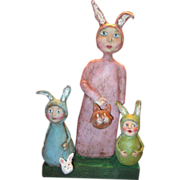 Bunny tribe Primitive sculpt by Jude Kapron