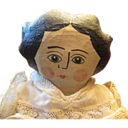 Great painted cloth doll to look like a China doll OOAK